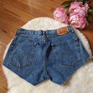 Vintage Levi's mom jeans cut off shorts